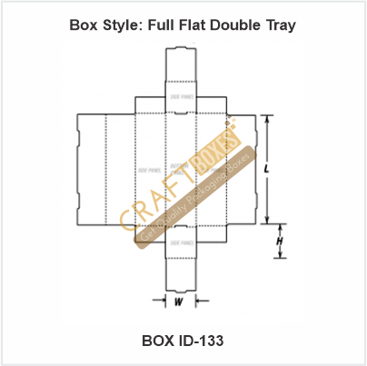 Full Flat Double Tray Packaging Boxes