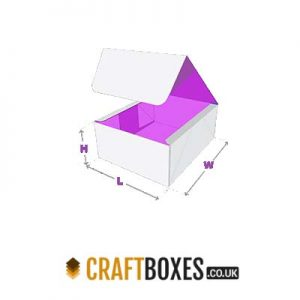 Custom Four Corner Kraft Lid Display Boxes