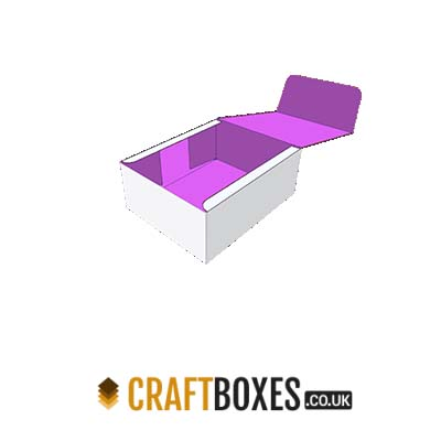 Custom Four Corner Kraft Lid Display Packaging Boxes