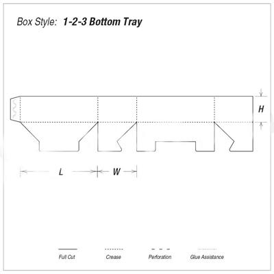 Custom Kraft 1-2-3 Bottom Tray Packaging Boxes
