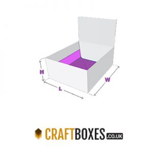 Custom Kraft 1-2-3 Bottom Tray with Lid Packaging Box