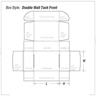 Custom Kraft Double Wall Tuck Front Packaging Box