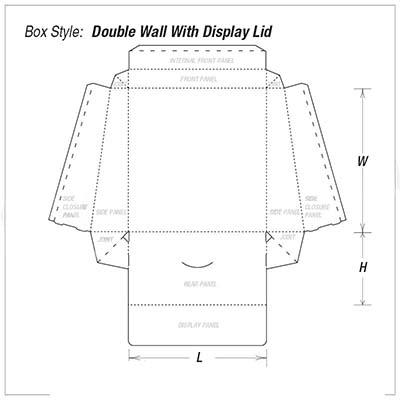 Custom Kraft Double wall display lid Packaging Boxes