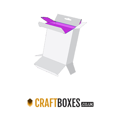 Custom Kraft Five Panel Hanger Packaging Box