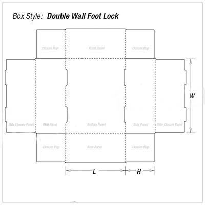 Custom Kraft Foot Lock Tray Foot Packaging Box