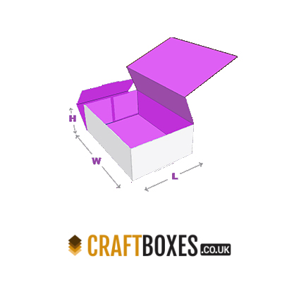 Custom Kraft Full Flat Double Tray Boxes