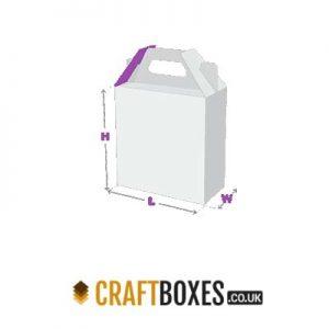 Custom Kraft Gable Bag Bottom Packaging Box