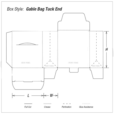 Custom Kraft Gable Bag Tuck End Boxes