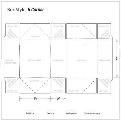 Custom Kraft Regular Six Corner Packaging Boxes