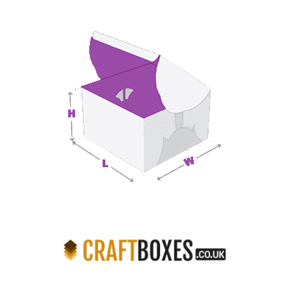 Custom Kraft Self-Lock Cake Packaging Box