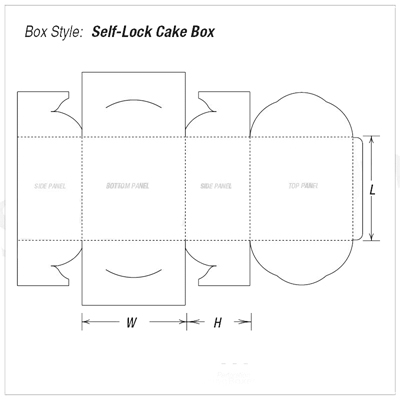 Custom Kraft Self-Lock Cake Packaging Boxes