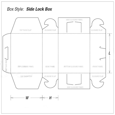 Custom Kraft Side Lock 6 Corner Side Packaging Box