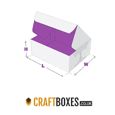 Custom Kraft Side Lock 6 Corner Side Packaging Boxes