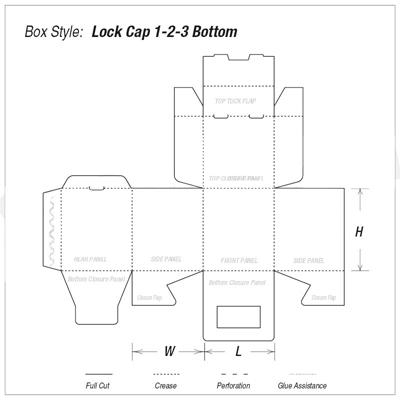 Custom Lock Cap 1-2-3 Bottom Boxes