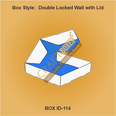 Double Locked Wall with Lid Boxes