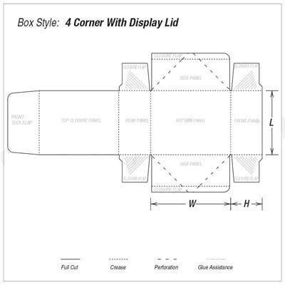 Four Corner Kraft Lid Display Packaging Boxes