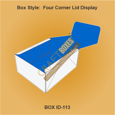 Four Corner Lid Display Boxes
