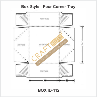 Four Corner Tray Packaging Boxes