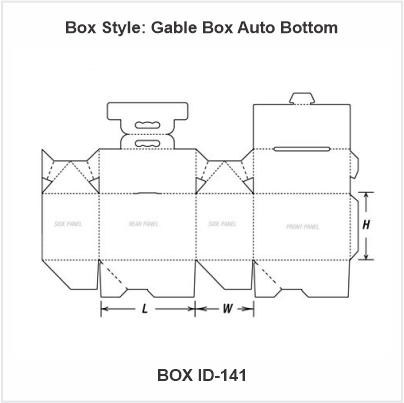 Gable Box Auto Bottom boxes