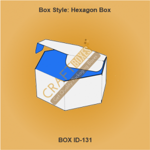Custom kraft hexagon boxes