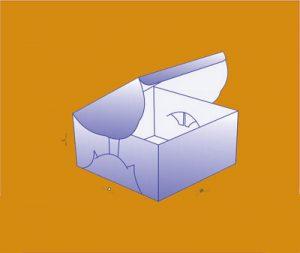 Self-Lock Cake Packaging Boxes