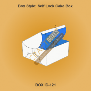 Self-Lock Cake Packaging Boxes
