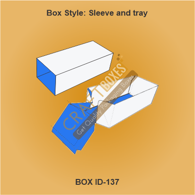 Sleeve and tray packaging box