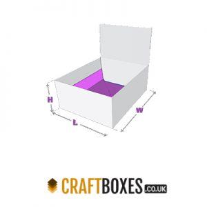 Custom Kraft Auto Bottom with Display Lid Boxes