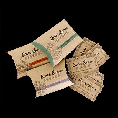 Custom Kraft Paper Pillow Soap Boxes-