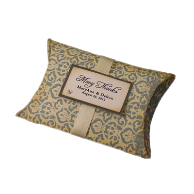 Custom Wedding Gift Pillow Boxes_