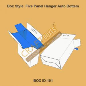 Five Panel Hanger Auto Bottom Boxes