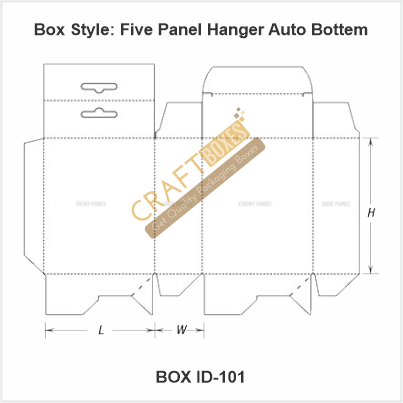 Five Panel Hanger Auto Bottom Boxes