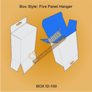 Five Panel Hanger Packaging Boxes