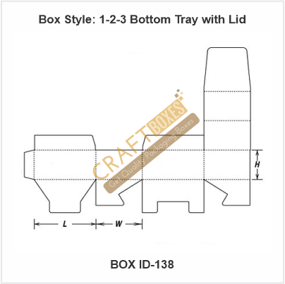 1-2-3 Bottom Tray with Lid Packaging Boxes
