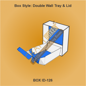 Double Wall Tray & Lid Packaging Boxes
