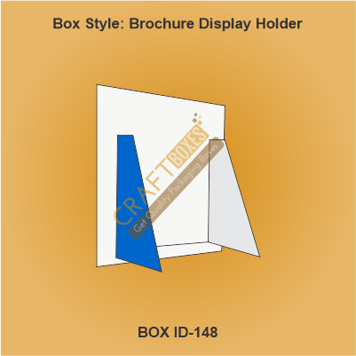 Custom Kraft Brochure Display Holder