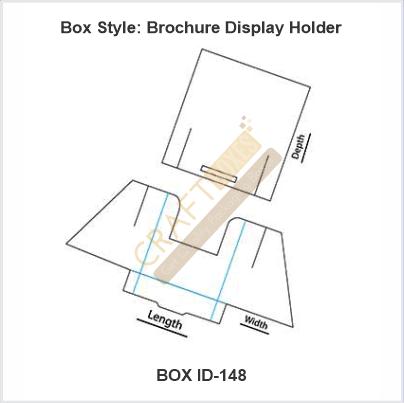 Custom Kraft Brochure Display Holder