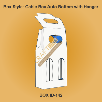 Gable Box Auto Bottom with hanger boxes