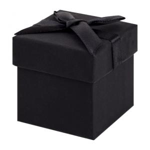 Black Earring Cube Gift Box 01