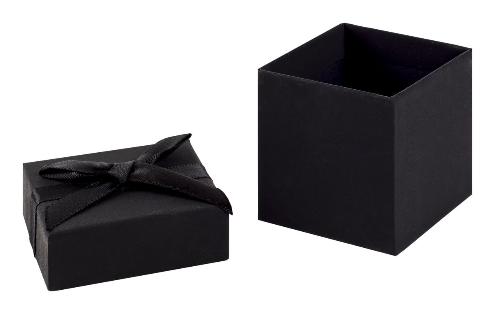 Black Earring Cube Gift Box 02