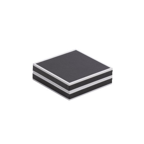 Black and White Edged Bangle Jewellery Gift Box 01