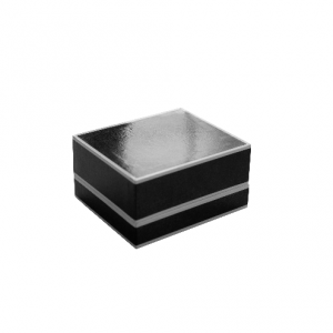 Black and White Edged Watch Jewellery Gift Box 01
