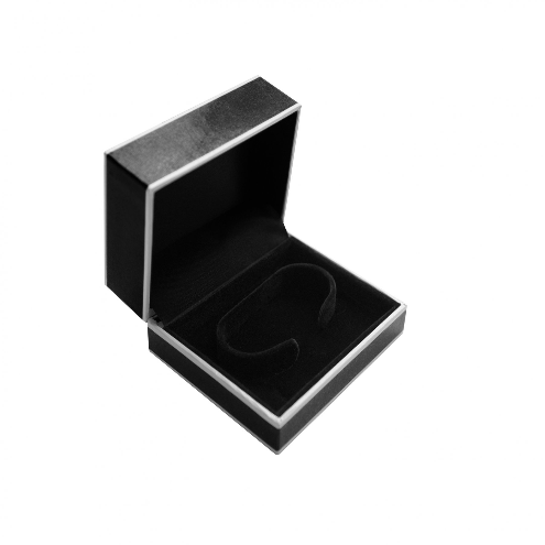 Black and White Edged Watch Jewellery Gift Box 02