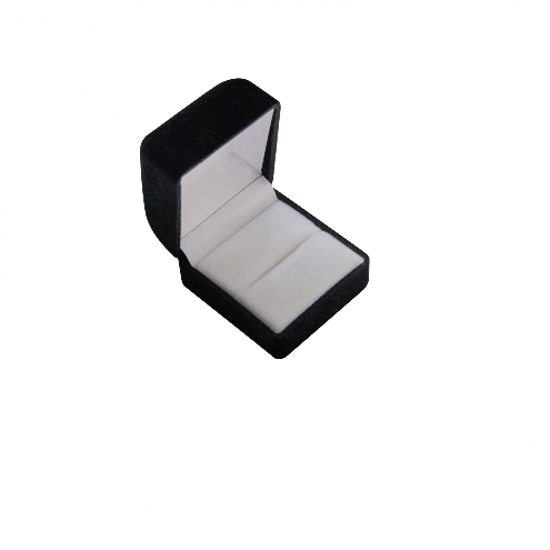 Black and White Velvet Jewellery Ring Gift Box 02