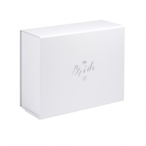 Bride Boxes with Matt Silver Foil