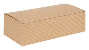 Brown Kraft Recycled Piece Flat Packed Pop Up Gift Box 01