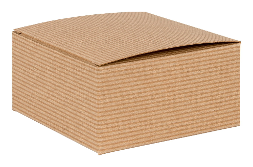 Brown Kraft Recycled Square Flat Gift Box 01