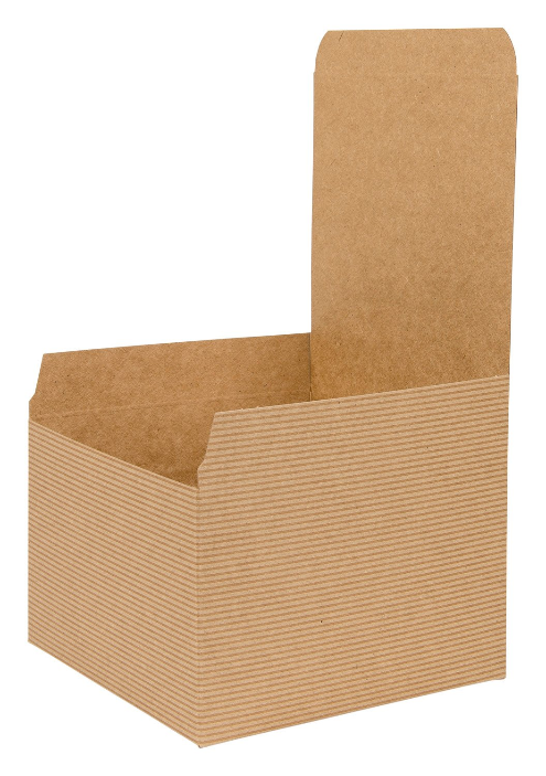 Brown Kraft Recycled Square Flat Gift Box 02