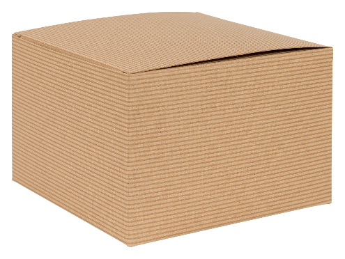 Brown Kraft Recycled Square Flat Gift Box 03