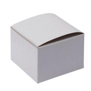 White Gloss Flat Square Gift Box